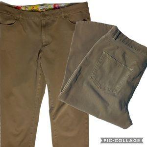 Coldwater Creek Crop Capri Pants Natural Fit Sz 16